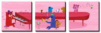 Jazz Critters Triptych