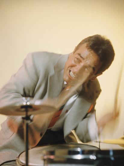Jazz Drummer Gene Krupa in Action-Eliot Elisofon-Premium Photographic Print