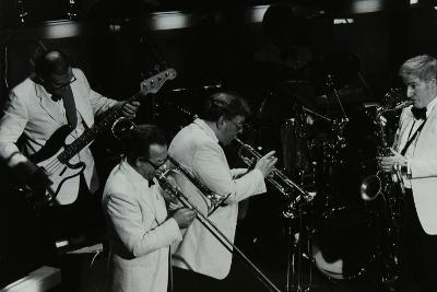 Jazz Group Playing at the Forum Theatre, Hatfield, Hertfordshire, 1984-Denis Williams-Photographic Print