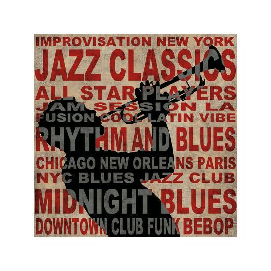 Jazz I-Luke Wilson-Giclee Print