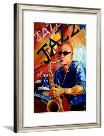 Jazz Man-Diane Millsap-Framed Art Print