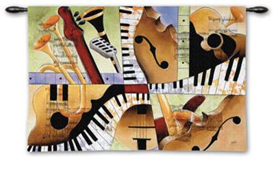 Jazz Medley I-Tom Grijalva-Wall Tapestry