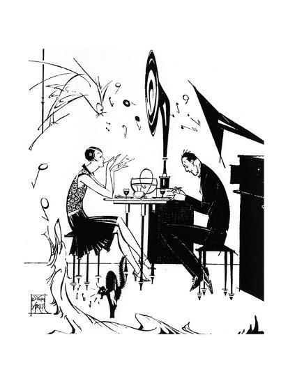 Jazz Music While You Dine, 1929-Joyce Mercer-Giclee Print