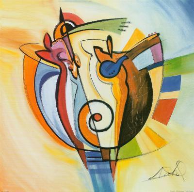 Jazz on the Circle-Alfred Gockel-Art Print