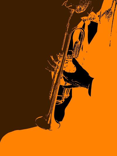 Jazz Orange-NaxArt-Art Print