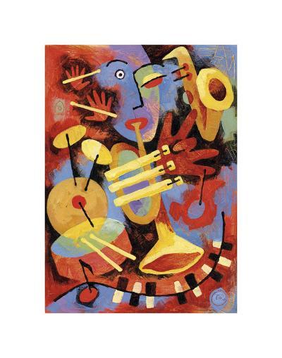 Jazz Player-Jim Dryden-Art Print