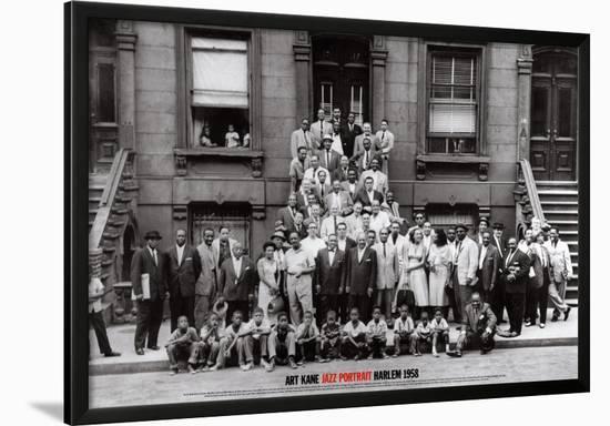 Jazz Portrait Harlem New York 1958 Lamina Framed Art Print By