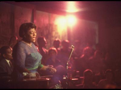 "Jazz Singer Ella Fitzgerald Performing at ""Mr. Kelly's"" Nightclub-Yale Joel-Premium Photographic Print"
