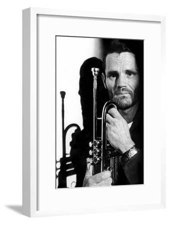 Jazz Trumpet Player Chet Baker (1929-1988) C. 1987--Framed Photo