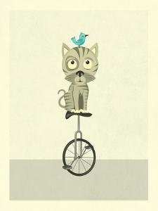 Balancing Cat by Jazzberry Blue