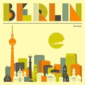 Berlin Skyline by Jazzberry Blue