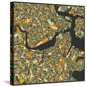 Boston Map by Jazzberry Blue