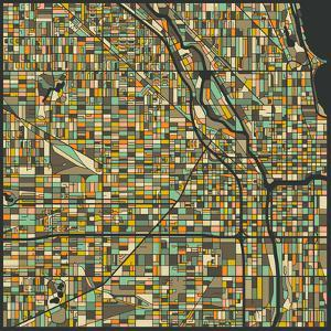 Chicago Map by Jazzberry Blue