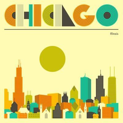 Chicago Skyline by Jazzberry Blue