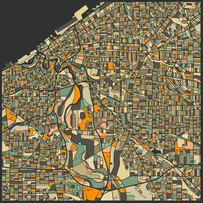 Cleveland Map by Jazzberry Blue