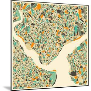 Istanbul Map by Jazzberry Blue