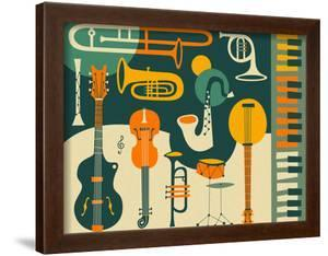 Beautiful Musical Instruments framed-posters artwork for