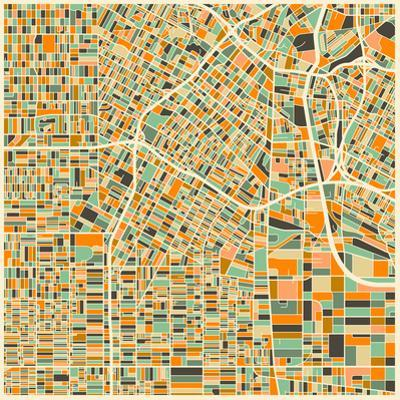 Los Angeles Map by Jazzberry Blue