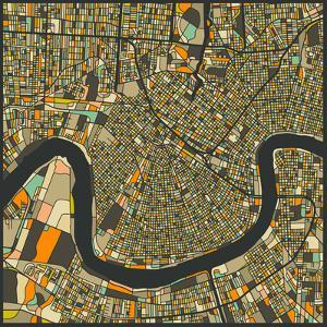 New Orleans Map by Jazzberry Blue
