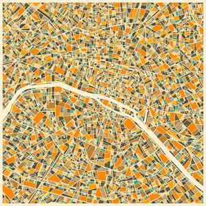 Paris Map by Jazzberry Blue