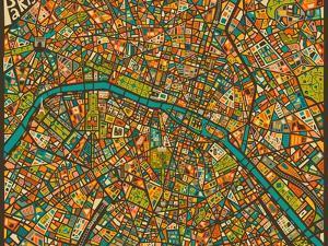 Paris Street Map by Jazzberry Blue