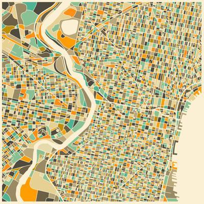 Philadelphia Map by Jazzberry Blue