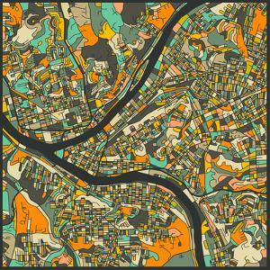 Pittsburgh Map by Jazzberry Blue