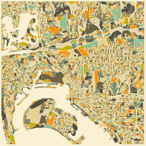 San Diego Map by Jazzberry Blue