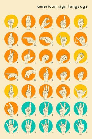 Sign Language Hand Alphabet by Jazzberry Blue