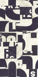 Collaged Letters Purple F by JB Hall