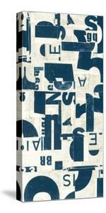 Collaged Letters Teal E by JB Hall