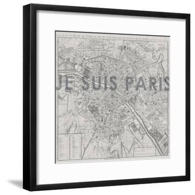 Je Suis Paris - Map of Paris, France