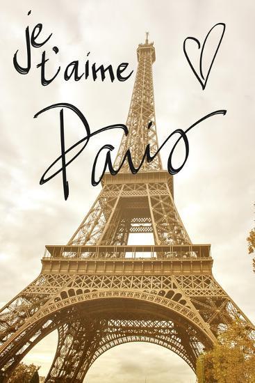 Je T'aime Paris-Emily Navas-Premium Giclee Print