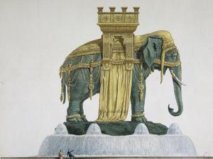 Projet d'éléphant pour la Bastille by Jean Antoine Alavoine