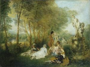 Feast of Love, C. 1717 by Jean Antoine Watteau