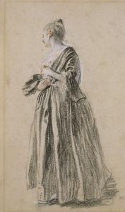 Femme debout by Jean Antoine Watteau