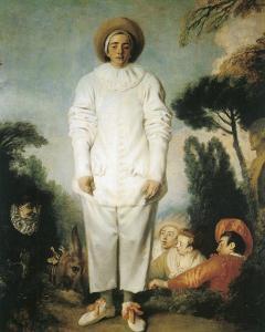 Pierrot, Gilles by Jean Antoine Watteau