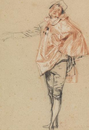 Study of a Standing Dancer with an Outstretched Arm, 1710