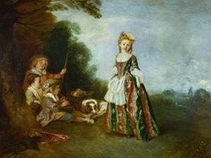 The Dance, Around 1719? by Jean Antoine Watteau