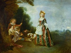 The Dance, Around 1719? by Jean Antoine Watteau