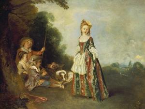 The Dance (Or: Iris), about 1719 by Jean Antoine Watteau