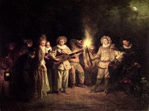 The Italian Comedy, C.1716 by Jean Antoine Watteau