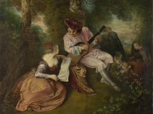 The Scale of Love (La Gamme D'Amou), 1715-1716 by Jean Antoine Watteau