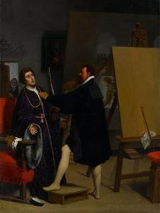 Aretino in the Studio of Tintoretto, 1848 by Jean Auguste Dominique Ingres