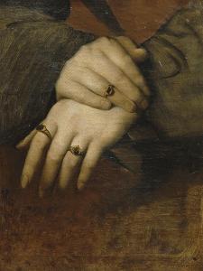 Etude de mains de femme (d'après le portrait de Maddalena Doni de Raphaël) by Jean-Auguste-Dominique Ingres