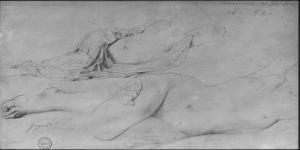 Etude pour l'Odalisque à l'esclave by Jean-Auguste-Dominique Ingres