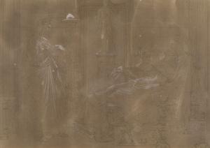 Etude pour Tu Marcellus eris ou Virgile lisant l'Enéide à Auguste by Jean-Auguste-Dominique Ingres