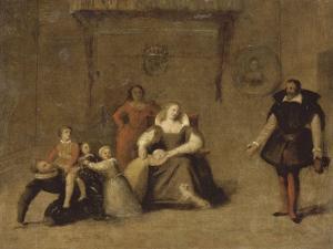 Henri IV jouant avec ses enfants by Jean-Auguste-Dominique Ingres