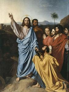 Jésus remettant à saint Pierre les clés du Paradis by Jean-Auguste-Dominique Ingres