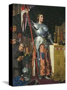 Joan of Arc on Coronation of Charles Vii in the Cathedral of Reims by Jean-Auguste-Dominique Ingres